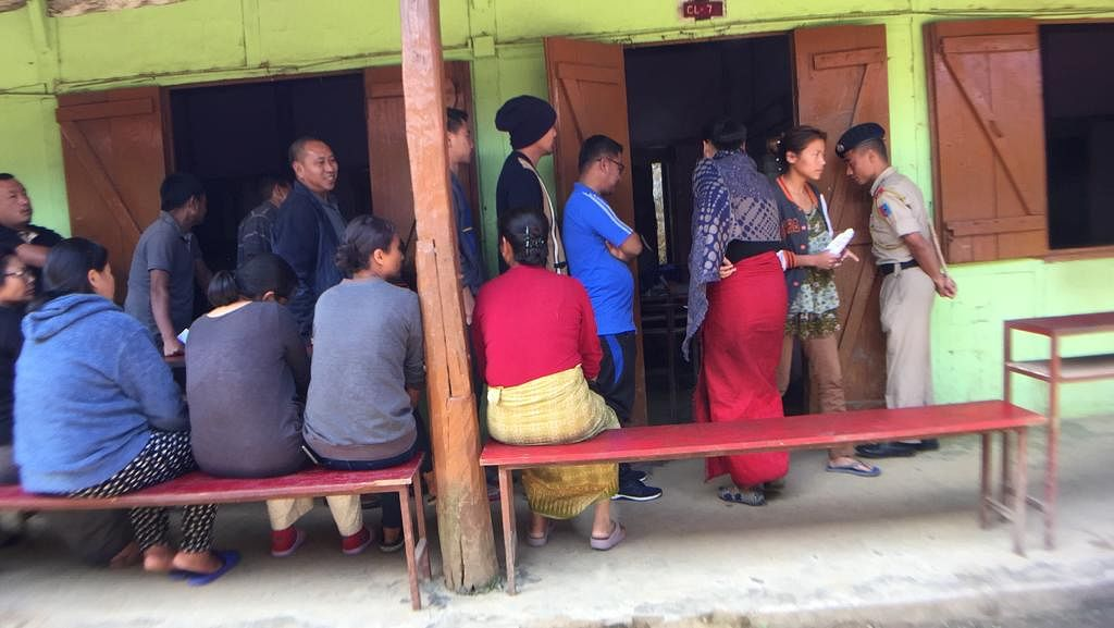 The scene at a polling station in Kohima, Nagaland on Thursday