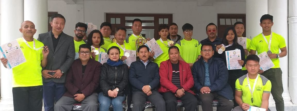 A 20-member team from Sikkim strength lifting association (SSLA) was felicitated by the state Sports Secretary RK Tamang on Saturday for wining 16 medals