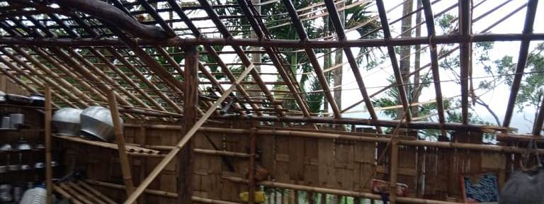 At least 41 houses were destroyed in Vairengte in the northeastern most tip of Mizoram