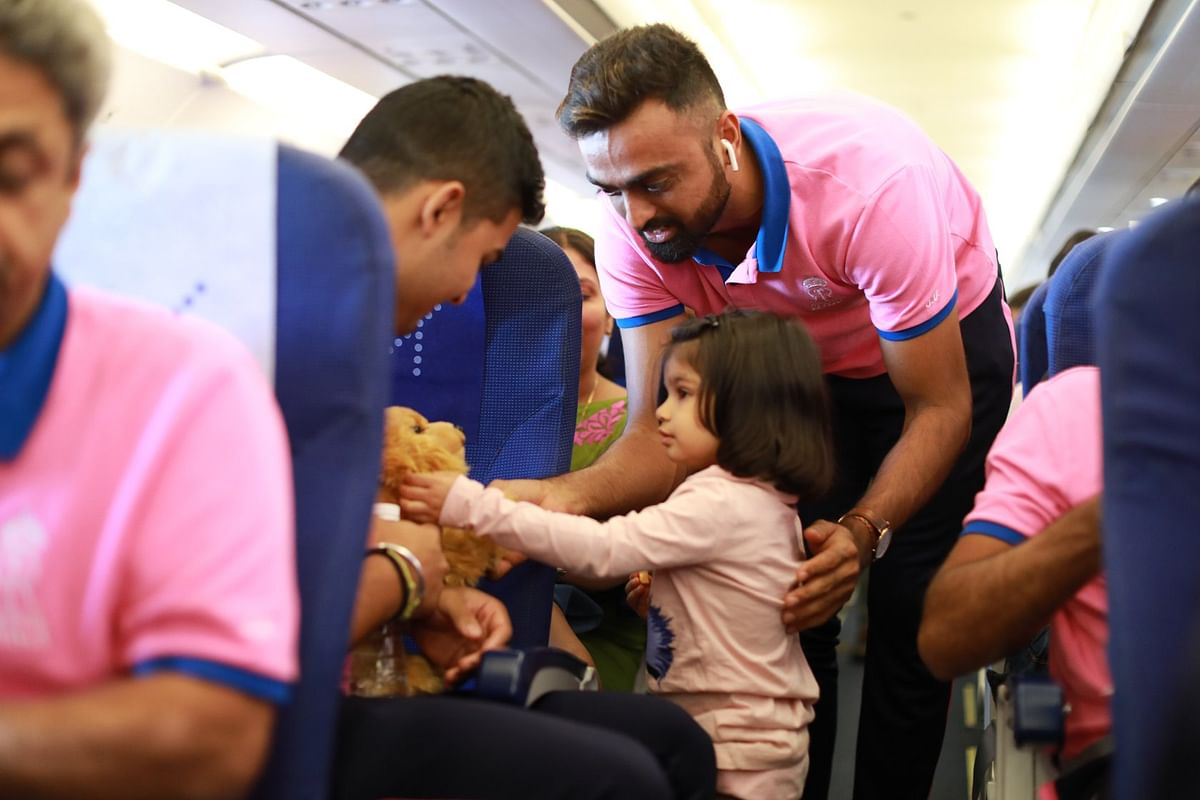 Riyan Parag is known for his love for soft toys and gifted one of his own to a little girl on a flight recently