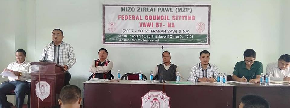 Mizo Zirlai Pawl holding its federal council meet on Friday