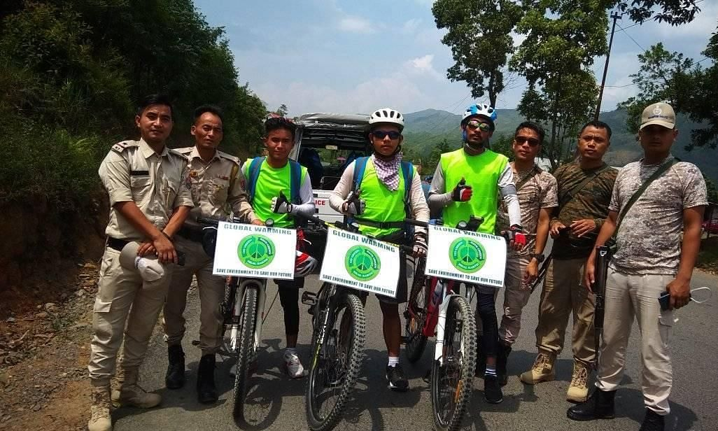 3 Manipur youths on green mission to pedal 3,200 km to Kanyakumari