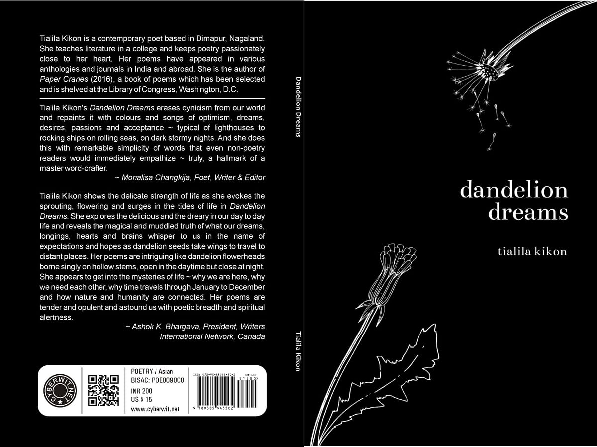 The cover of Tialila Kikon's latest book of poetry titled 'Dandelion Dreams'