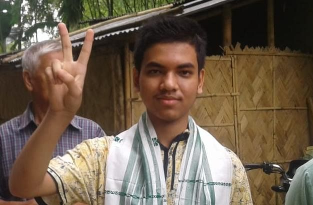 Achyut Kumar Chetia from Golaghat Jatiya Vidyalaya secured tenth position with 583 marks