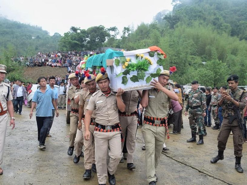 Arunachal bids tearful adieu to slain Khonsa West MLA Tirong Aboh