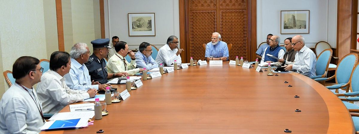 A high-level meeting attended by top government officials in New Delhi on Thursday