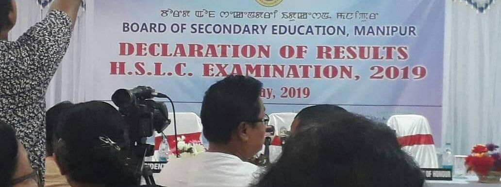 The Manipur Class X board exam results were declared at a press conference in Imphal on Saturday