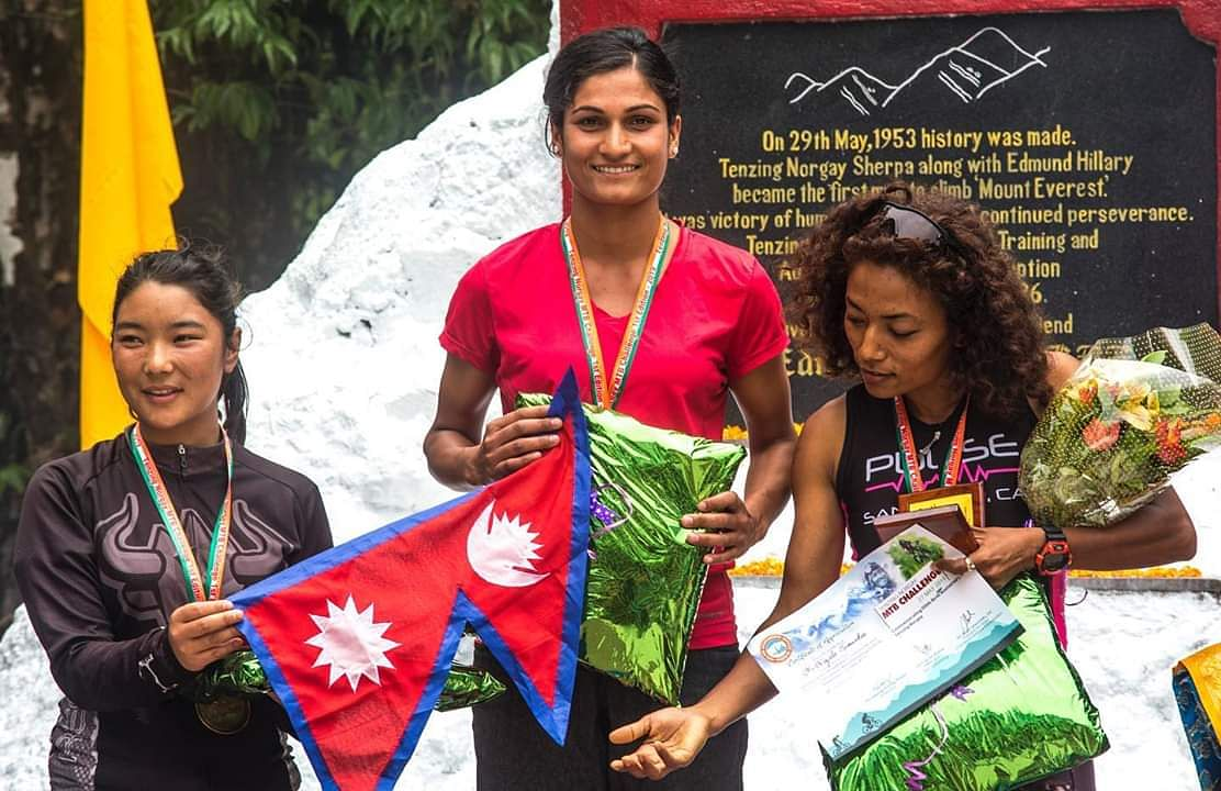 Nepal dominated the show by winning all the top-three places in the women's category