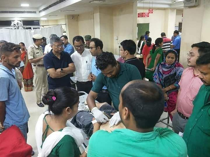 Senior Assam minister Siddhartha Bhattacharya visited Gauhati Medical College and Hospital (GMCH) to assess the situation