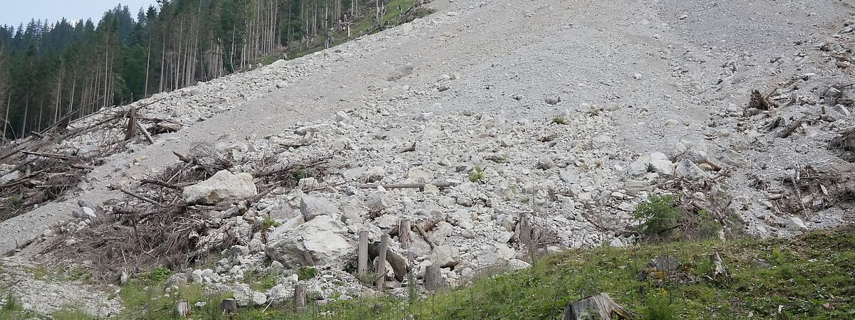 The landslides were reported to have occurred in two phases -- from June 21 to 25 and September 20 to 22 in 2014