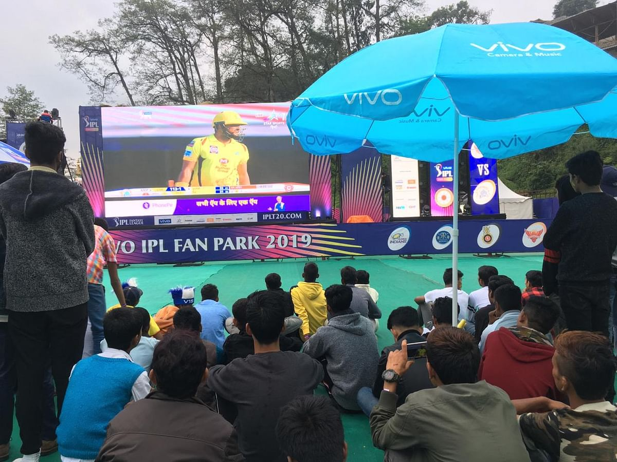 Sikkim witnessed the IPL game for the first time through the Fan Park