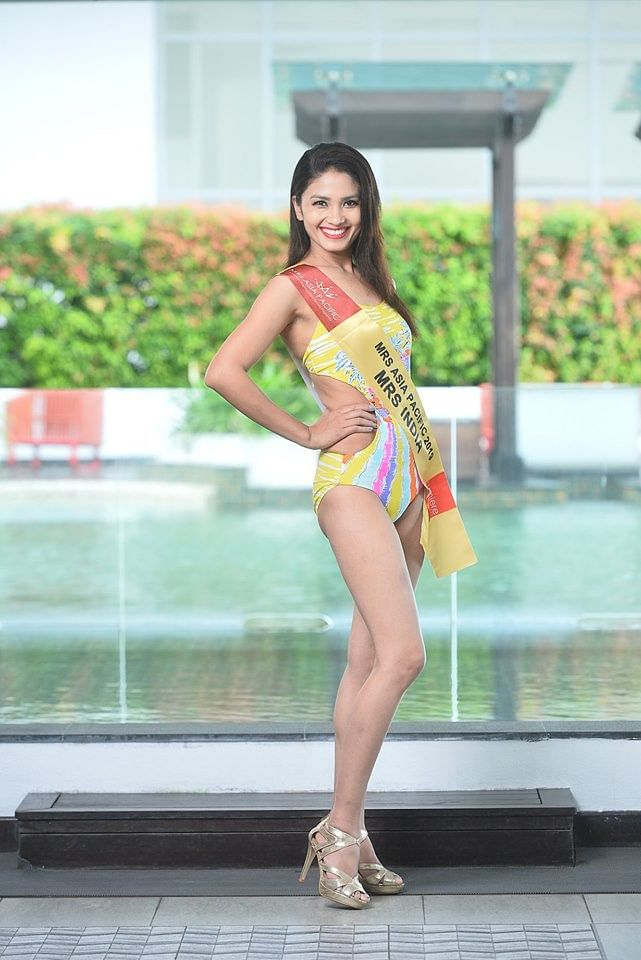 Sylvia Adaphro represented India at the beauty pageant