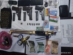 The items that were seized from the eight accused on Saturday