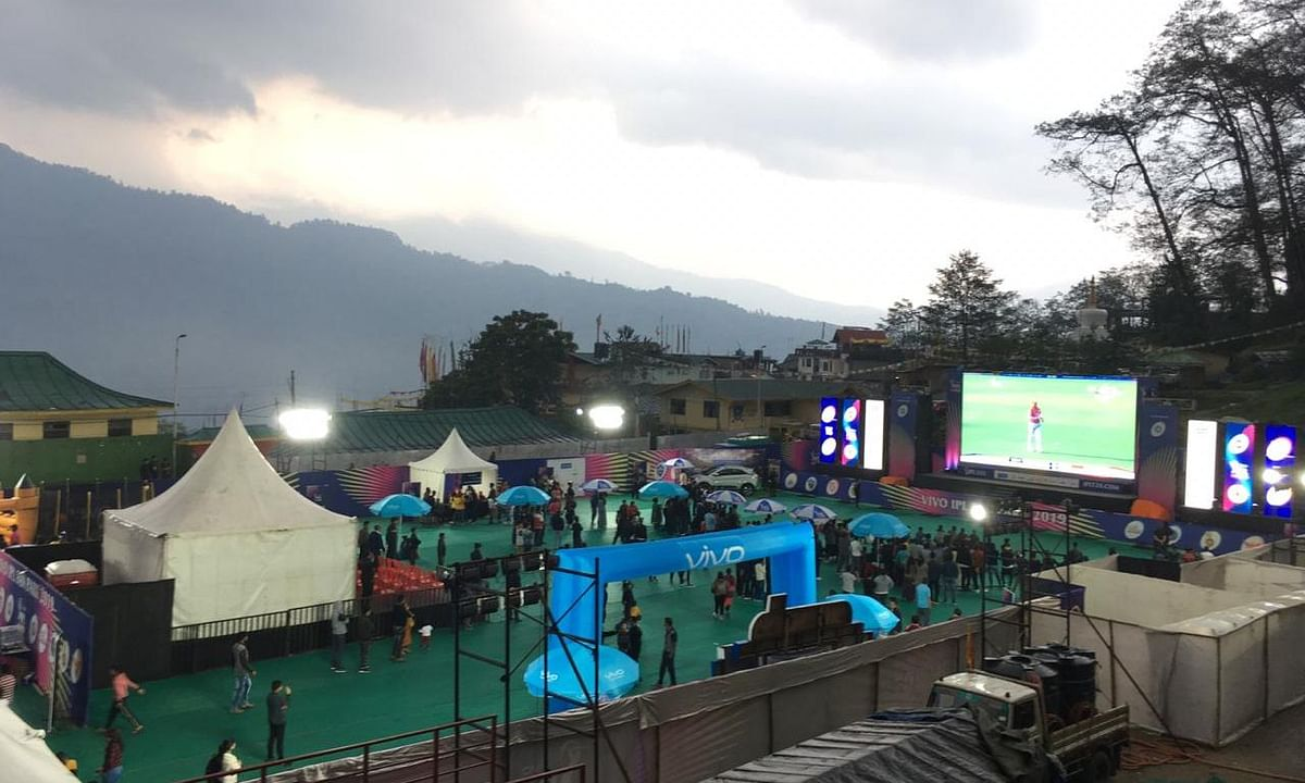Sikkim gets a giant's eye view of cricket, thanks to IPL fan park