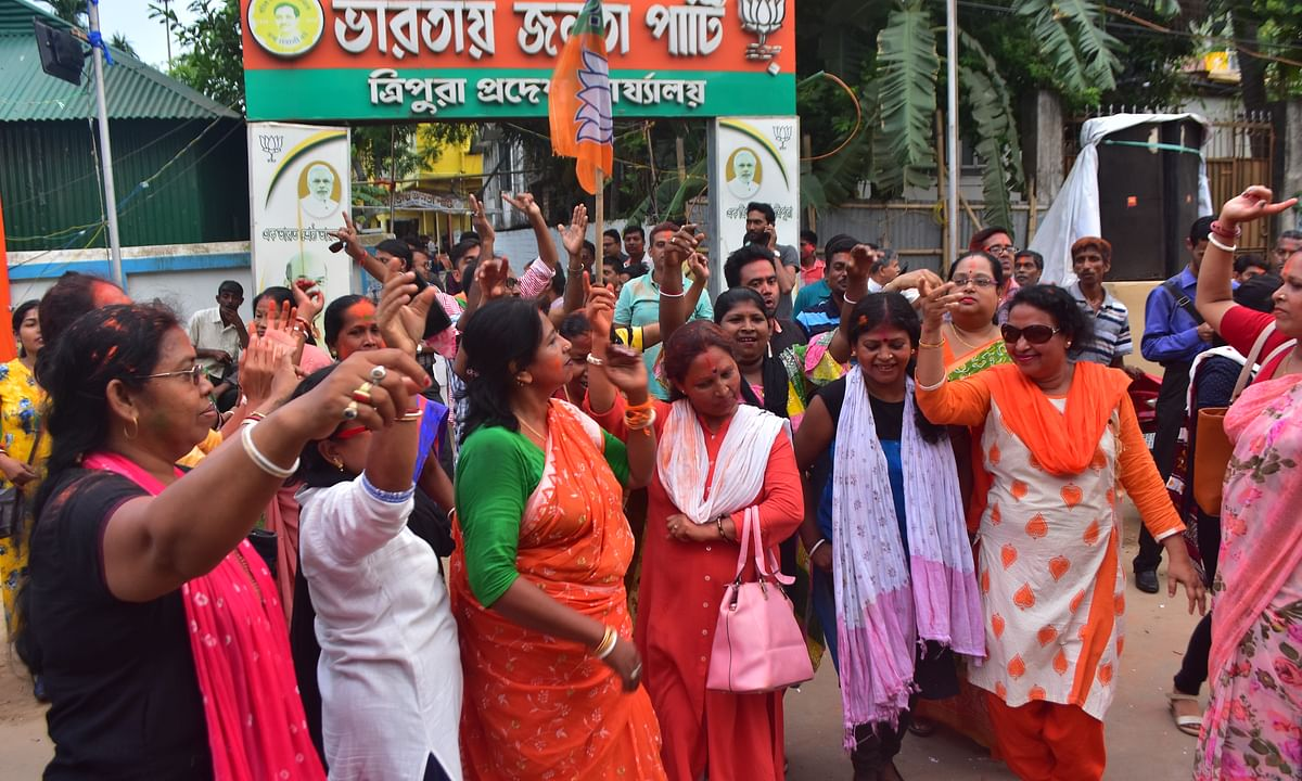 LS election results: Violence marks counting as BJP sweeps Tripura