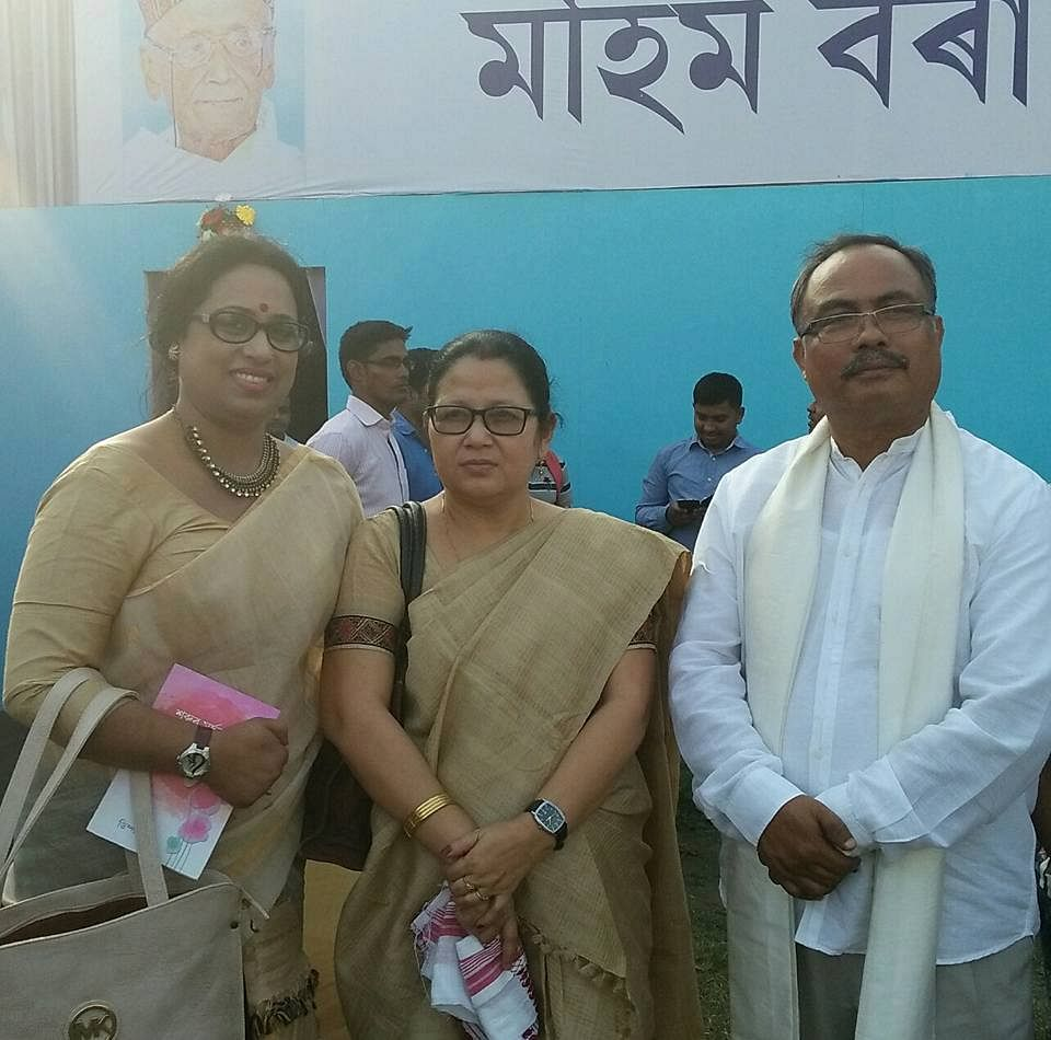 Jahnabi Saikia (extreme left) was arrested from her rented accommodation in Bagharbari area of Guwahati on Thursday afternoon