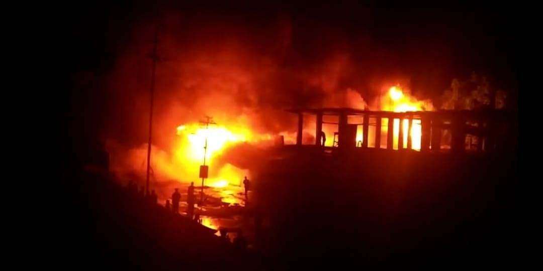 Properties worth lakhs were allegedly destroyed in the massive inferno
