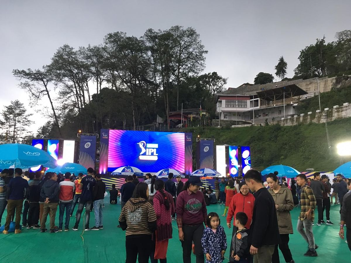 Parents and children enjoying at the IPL Fan Park