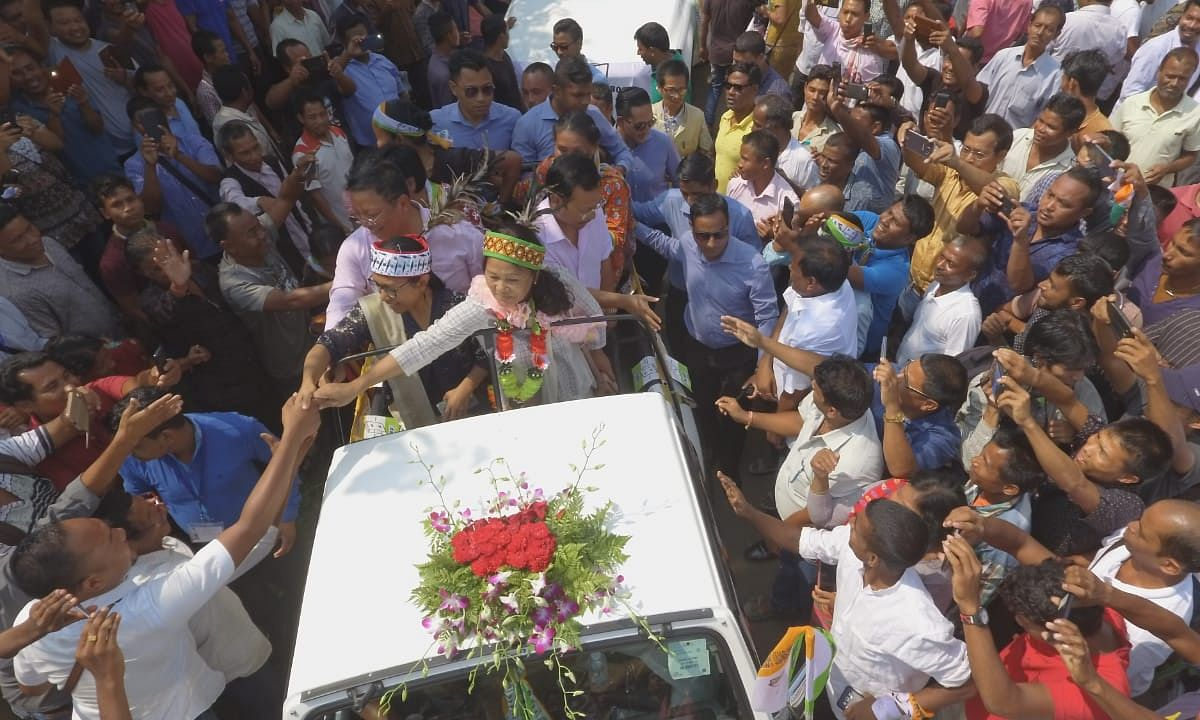 In PICS: Celebrations mark victory of NPP's Agatha Sangma in Tura