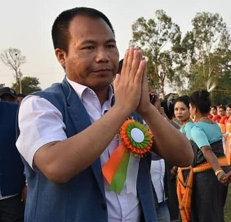 BJP's Outer Manipur candidate Houlim Shokhopao Mate