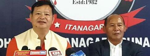 BJP election committee chairman Tame Phassang addressing  media persons in Itanagar on Thursday