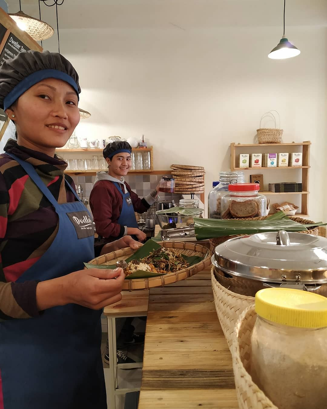 Elizabeth Yambem opened a second outlet of Dweller Teas in Imphal in May