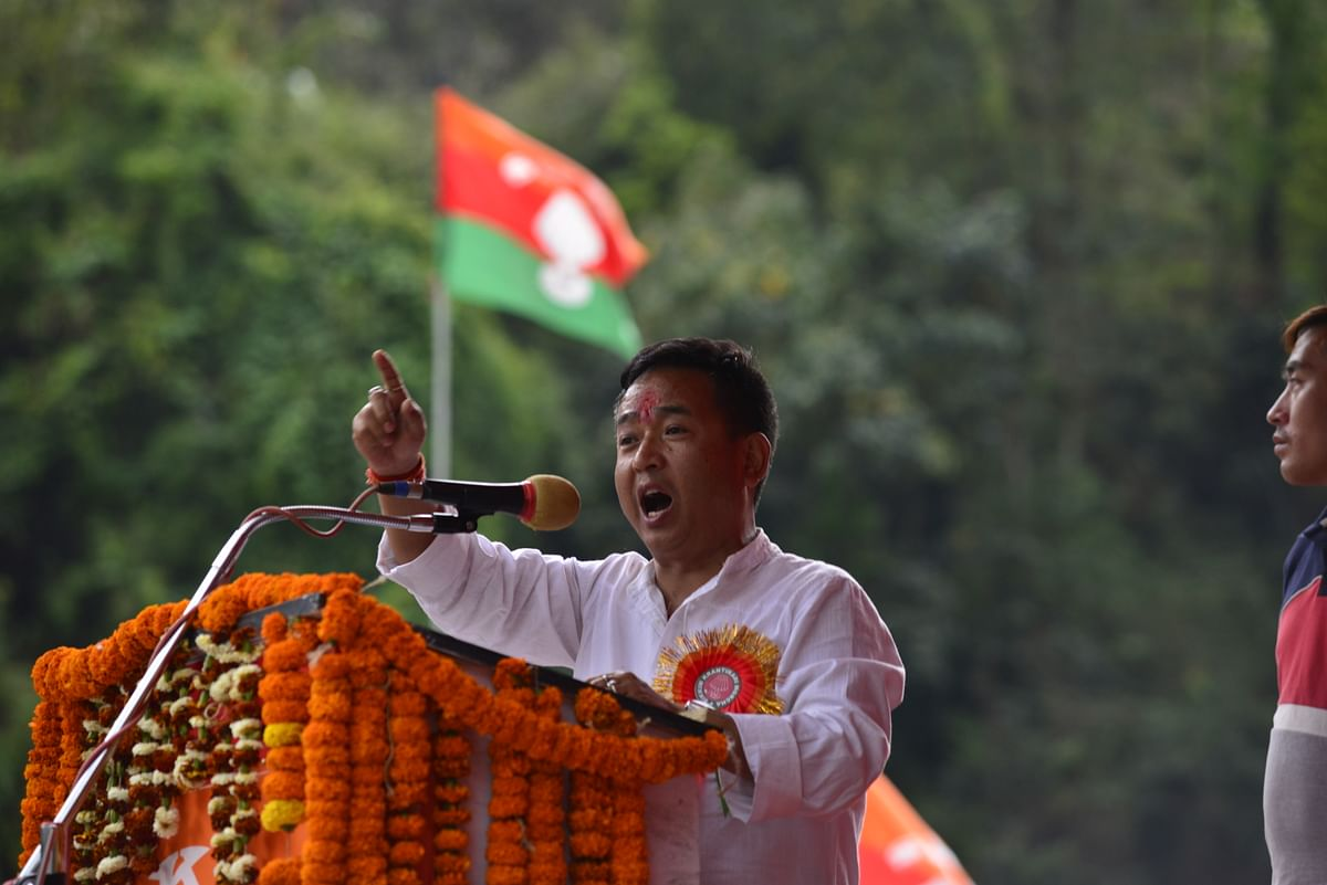 Aditya Golay, the newly-elected MLA from Soreng-Chakung assembly constituency in Sikkim