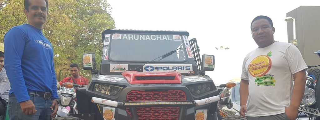 Team Arunachal is represented by two-time Raid De Himalaya winner Lhakpa Tsering (right) and ace navigator V Venu Rameshkumar