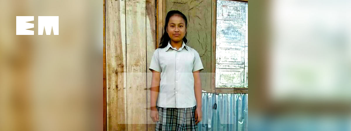 13-year-old Vasty Lalhmeltha (above) died while trying to save her friend Emmanuel Lalziding  from drowning
