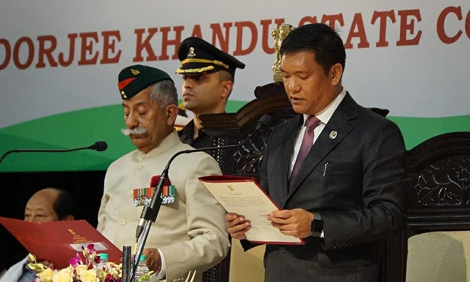 Pema Khandu sworn in as Arunachal CM for second term
