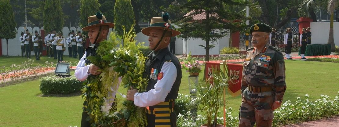 Lt Gen RP Kalita taking charge at Fort William in Kolkata on Friday
