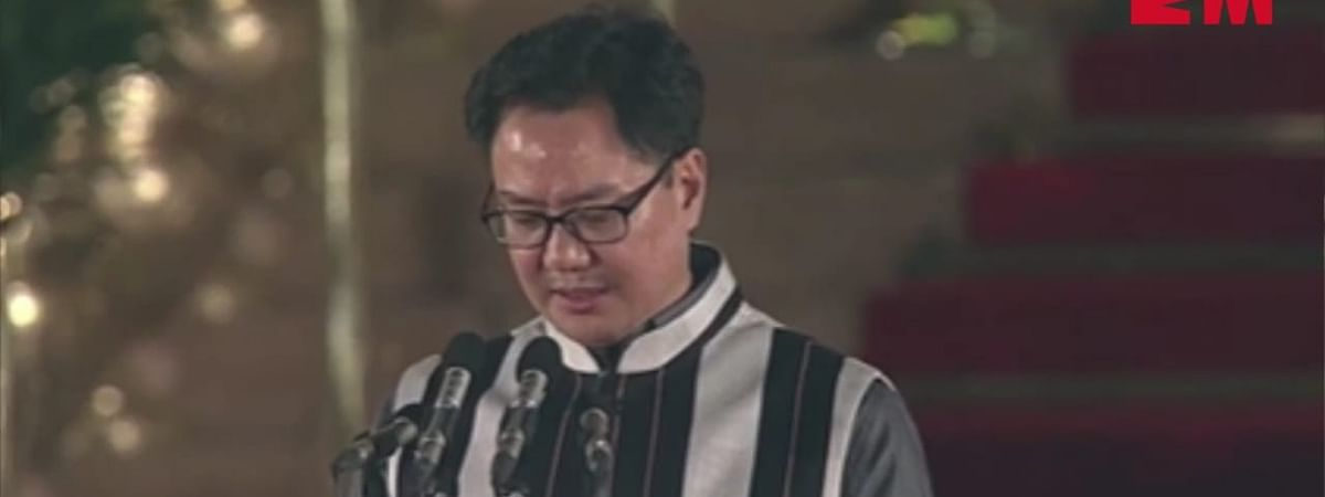 Former Union MoS for home Kiren Rijiju was re-elected from Arunachal West constituency this year