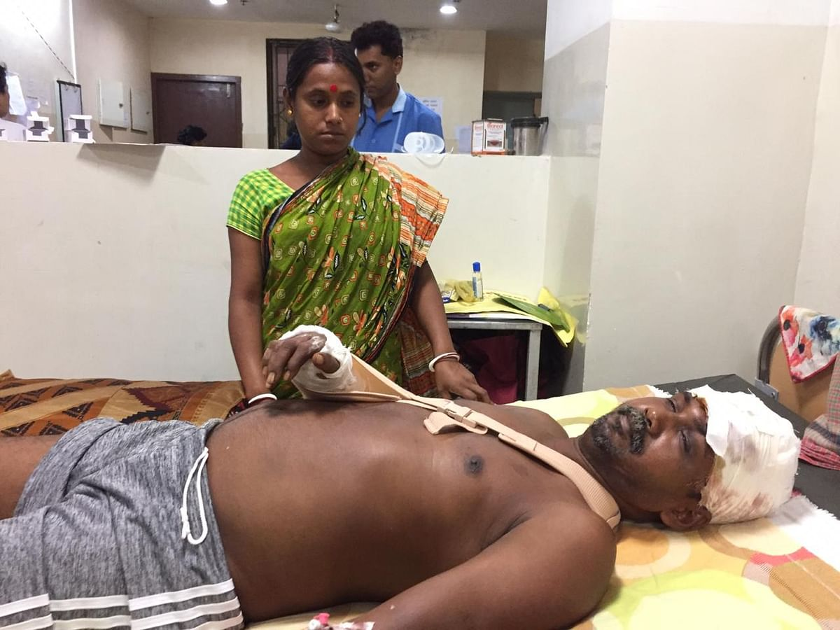 One of the injured in hospital