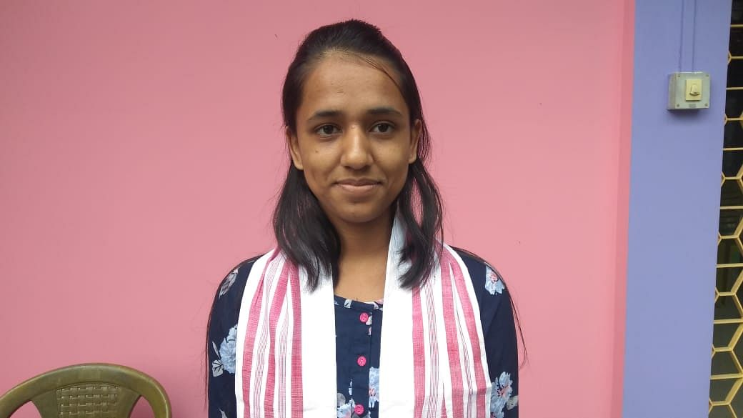 Upasha Mudoi from Golaghat Jatiya Vidyalaya secured the fifth position with 589 marks