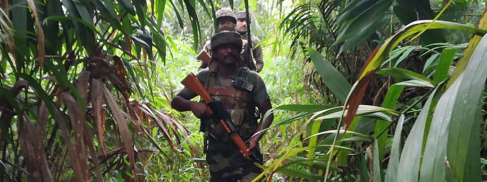 Army personnel conducting a counter-insurgency operation to nab the culprits behind the killing of Khonsa West MLA Tirong Aboh, 10 others, in Tirap district of Arunachal Pradesh