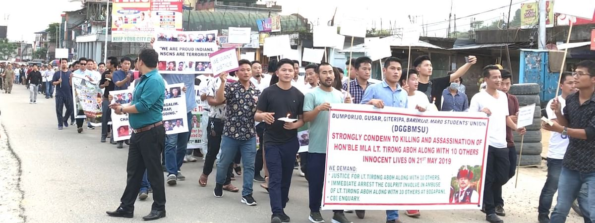 The march saw participation of people from all walks of life, including several student organisations of the state