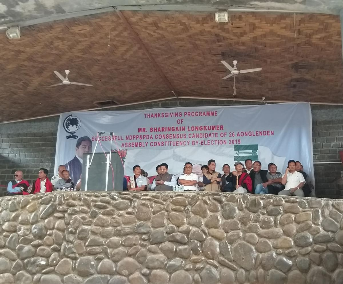 A 'thanksgiving programme' being organised to celebrate Longkumer's victory at Ungma Village amphitheater on Thursday