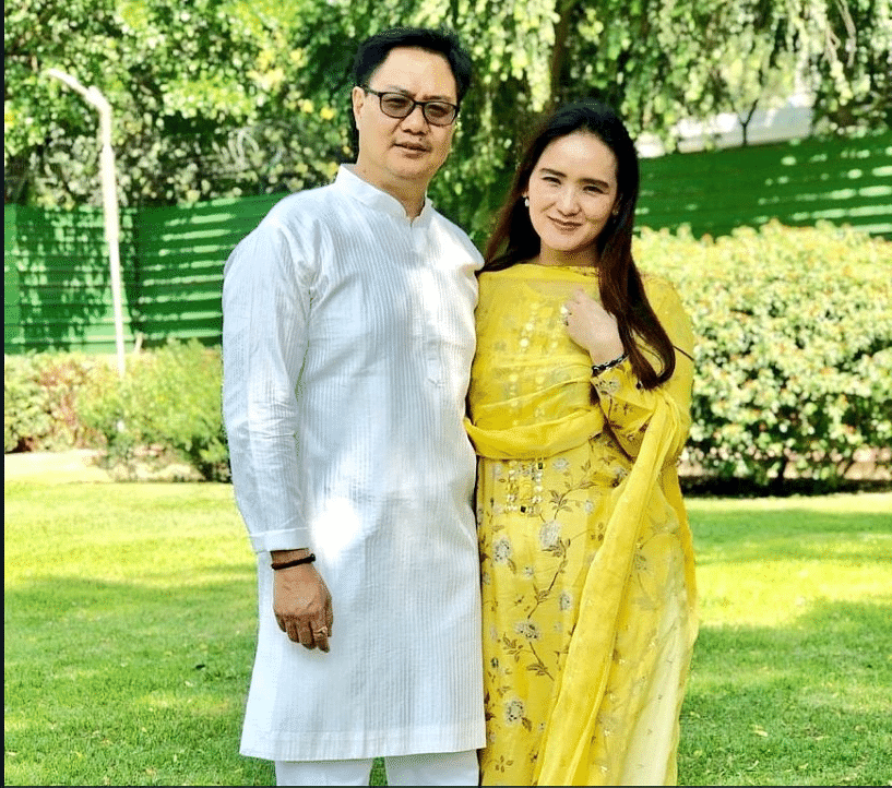 Rijiju is considered as one of the front-ranking political figures from the Northeast; seen here, with wife Joram Rina Rijiju