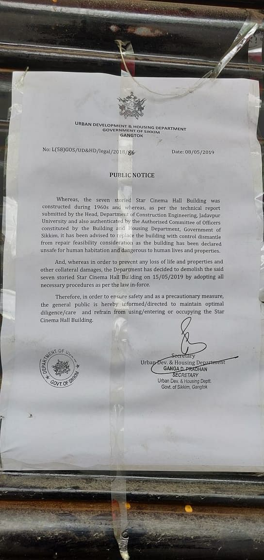 The notice from the Sikkim High Court
