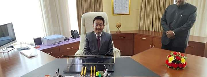 SKM leader PS Golay officially took charge as the new CM of Sikkim at Tashiling, Gangtok on Monday