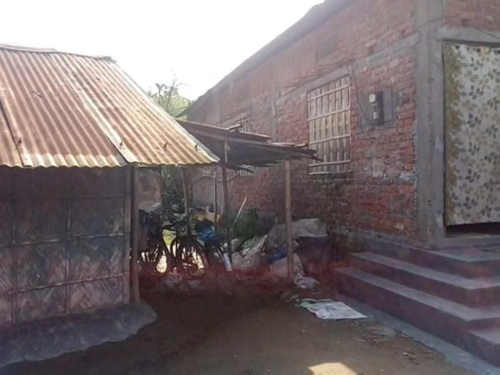 Rameswar Teli is lauded for his apparent simplicity. Another picture of his house in Dibrugarh district of Assam