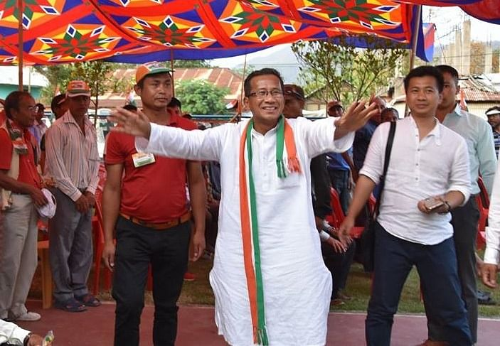 Oinam Nabakishore Singh, the Congress candidate for Inner Manipur Lok Sabha constituency