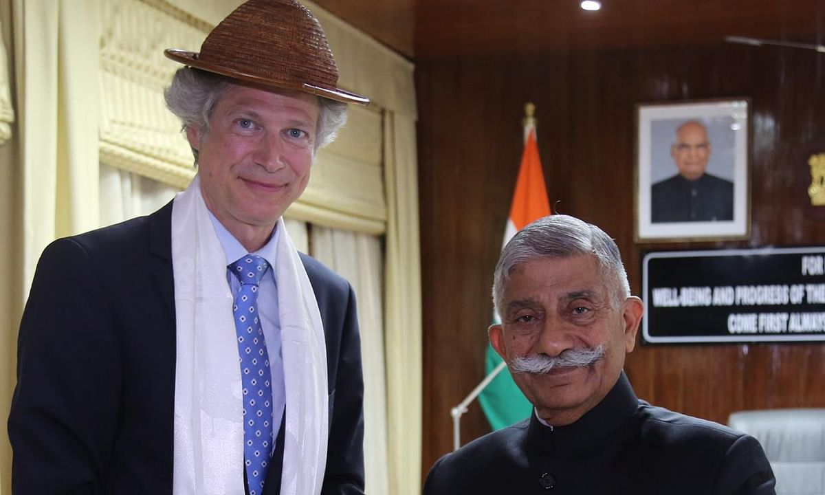 German delegation meets Arunachal governor BD Mishra in Itanagar