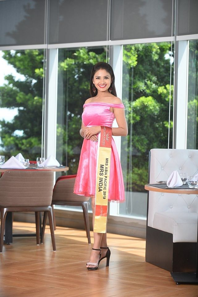 Manipur woman Sylvia Adaphro looking stunning in the cocktail dress