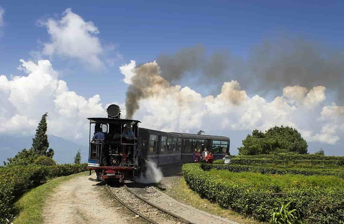 Darjeeling Toy Train crossing one of the many loops along the 88-km route.