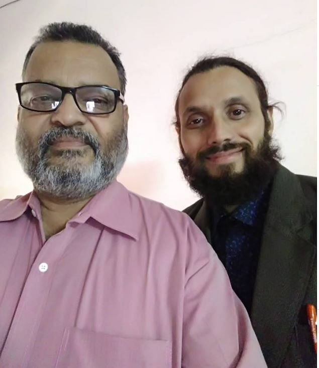 Pranamoy Rajguru (left), who was arrested with his alleged accomplice Jahnabi Saikia from Guwahati on Thursday. Seen on his right is Amit Ballav Goswami, an alleged bomb expert of ULFA, who was later arrested from Golaghat on Friday
