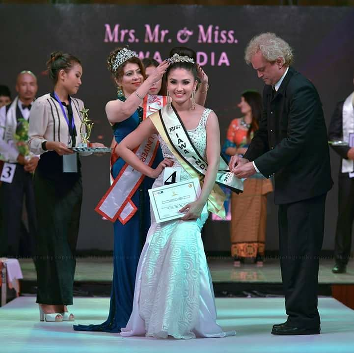 Earlier, Sylvia Adaphro won the 1st runners-up at the 'Mrs IAWA India 2017' pageant in Mumbai