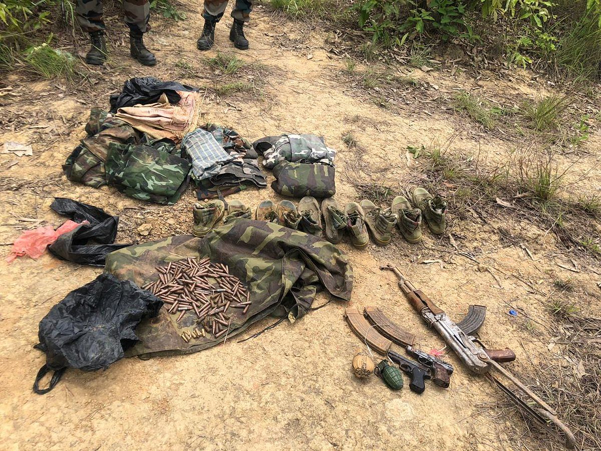 Manipur: Huge cache of arms & ammunition recovered from Imphal