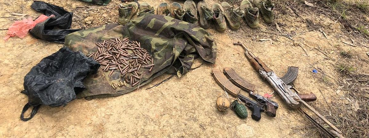 Huge cache of arms and ammunition were seized in a joint operation on Thursday