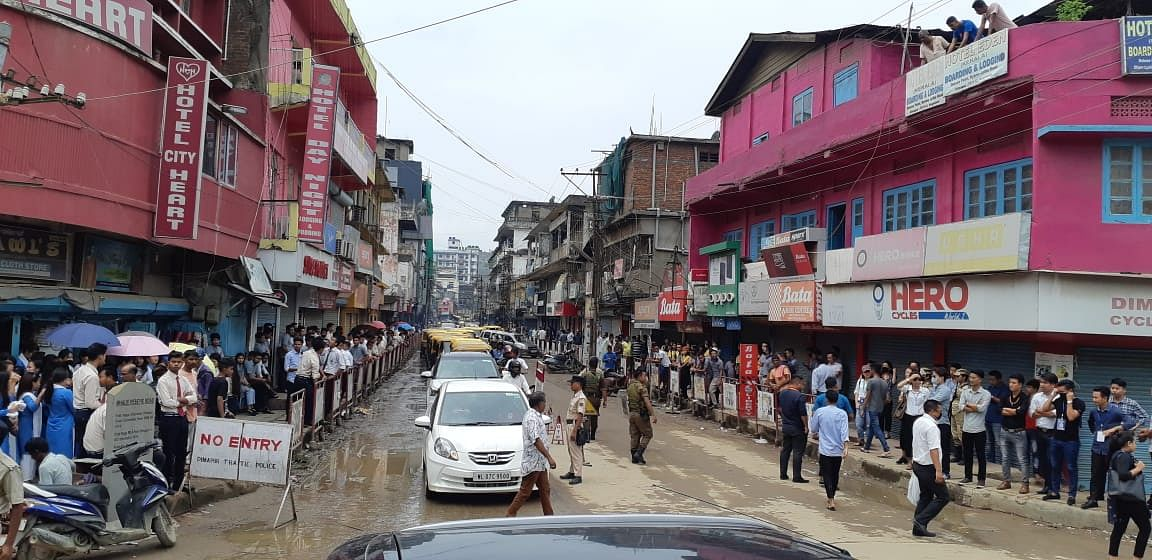 Students protesting in Dimapur